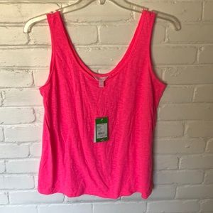 Lilly Pulitzer hot pink Kinsey tank